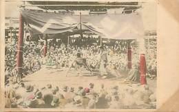 A-17-1898  : CARTE JAPONAISE  LUTTE. - Lutte