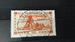 RARE 60C PFENNIG GERMANY EMPIRE SAARGEBIET 1935 SAARBRUCKEN WATERMARK SEAL USED STAMP TIMBRE - Used Stamps