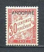 ANDORRE 1931 TAXE N° 3 ** Neuf MNH  Superbe  Cote 7,80 €  Très Beau Centrage