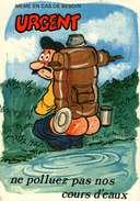 """Humour - Illustration Alexandre - Editions Lyna 713/2 - Série """"Camping""""  Ne Polluez Pas Nos Cours D'Eau... - Humour"""