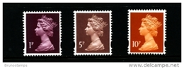 GREAT BRITAIN - 1993  MACHIN  SET  (1p+5p+10p)  MINT NH - 1952-.... (Elizabeth II)