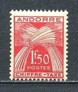 ANDORRE 1943 TAXE N° 25 ** Neuf MNH  Superbes  Cote 7.70 €  Flore Gerbes