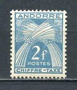 ANDORRE 1943 TAXE N° 26 ** Neuf MNH  Superbes  Cote 2,30 €  Flore Gerbes