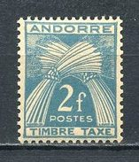 ANDORRE 1946 TAXE N° 34 ** Neuf MNH  Superbes  Cote 1,50 €  Flore Gerbes