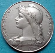 France - Médaille 28e Concours National Et International De Tir Tourcoing 1925 - Graveur : O. Roty Bronze Argenté - France