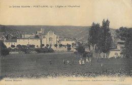 Poët-Laval (Drôme) - L'Eglise Et L'Orphelinat - Edition Delarbre - Collection Lux - Francia