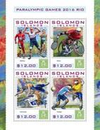 Solomon Eilanden - Postfris / MNH - Sheet Paralympics 2016 - Solomoneilanden (1978-...)