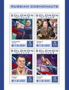 Solomon Eilanden - Postfris / MNH - Sheet Russische Kosmonauten 2016 - Solomoneilanden (1978-...)