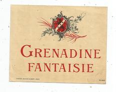 étiquette , SIROP ,GRANADINE FANTAISIE, Specimen N° 409 , Haberer , Plouviez & Douin - Etiquettes