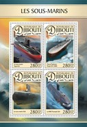 Djibouti - Postfris / MNH - Sheet Onderzeeboten 2016 - Djibouti (1977-...)