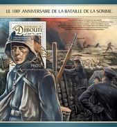 Djibouti - Postfris / MNH - Sheet Strijd Om De Somme 2016 - Djibouti (1977-...)