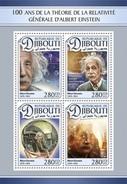 Djibouti - Postfris / MNH - Sheet Albert Einstein 2016 - Djibouti (1977-...)