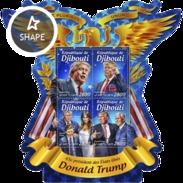 Djibouti - Postfris / MNH - Sheet Donald Trump 2016 - Djibouti (1977-...)