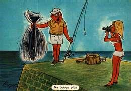 Humour - Illustration Pouzet  -   La Pêche -  Pin-up, Poisson (Editions Yvon N° 51) - Humor