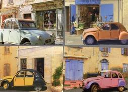Lot Of 4 Different CITROEN 2CV Postcards  -  4 X CPM - Voitures De Tourisme