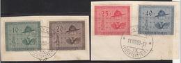 Liechtenstein 1953 Cancelled On Piece Sc# 270-273