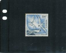 "Monaco 1957  ( PA N°67 ""100F. Sternes"" -  Dentelé 13 Oblitéré ) Superbe - Posta Aerea"