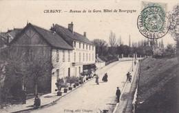 CHAGNY 71 AVENUE DE LA GARE HOTEL DE BOURGOGNE BELLE CARTE RARE !!! - Chagny
