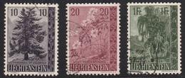 Liechtenstein 1957 Cancelled, Sc# 312-314