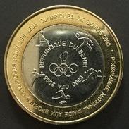 Benin  - 6000 CFA  - 2003 - Olympics In Beijing ,j.o , Jeux - élephant ,sports , Bimetal ,bimetallic - Benin