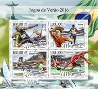 Mozambique - Postfris / MNH - Sheet Zomerspelen 2016 - Mozambique