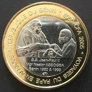 Benin  - 6000 CFA  - 2005 - J.Paul II Et Nestor Assogba  , Bimetal ,bimetallic - Benin