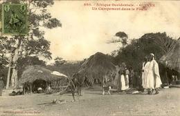 GUINEE - Campement Dans Le Fouta - Carte Animée Et Voyagée - Bon état - 21602 - Guinea Francesa
