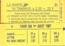 """CARNET 2376-C 10 Liberté De Delacroix """"LA RESERVATION GRATUITE DES TIMBRES"""" Avec R.E. Fermé. Produit RARE - Carnets"""