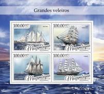 Mozambique - Postfris / MNH - Sheet Zeilschepen 2016 - Mozambique
