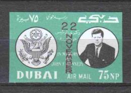 Dubai 1964 Mi 144B MNH JOHN F. KENNEDY (B)