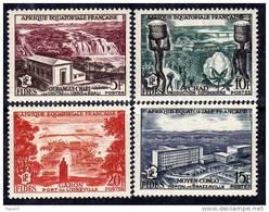 A. E. F. N° 232 / 35 X  F.I.D.E.S., La Série Des 4 Valeurs  Trace De Charnière Sinon TB