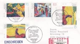 Germany Registered FDC Bonn 1992 Deutsche Malerei Des 20. Jahrhunderts (G79-1A) - Arte
