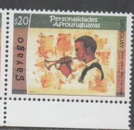 URUGUAY, 2016,AFROURUGUAYAN PERSONALITIES, MUSICIANS, TRUMPETS, 1v - Musique