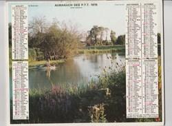 - CALENDRIER PTT Année 1976 Pêcheur - Calendars