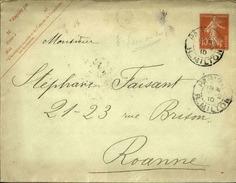 FRANCE - Entier Avec Complément D' Affr. Mixte - Voir Dos - 1910 - 21622