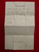 FUHRUNGS ATTEST DIPLOME MILITAIRE ALLEMAND 92 REGIMENT INFANTERIE 1881 BRAUNSCHWEIG - Documenten