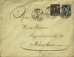 FRANCE - Entier Avec Complément D' Affr. Pour La Bavière - 1899 - 21624