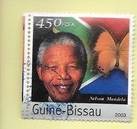 TIMBRES - STAMPS - GUINEA-BISSAU / GUINÉE-BISSAU - NELSON MANDELA - TIMBRE OBLITÉRÉ - Guinea-Bissau