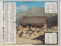 - CALENDRIER PTT Année 1977 - Chèvres - Calendars