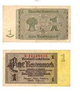 1 RENTENMARK Du 30.01.1937- Lot De 2 Billets - [ 4] 1933-1945 : Third Reich