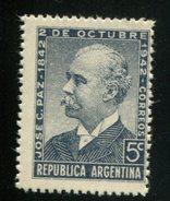 426552869 ARGENTINIE DB 1942 POSTFRIS MINTNEVER HINGED POSTFRIS NEUF YVERT 422 - Argentine