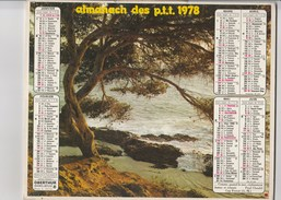 - CALENDRIER PTT Année 1978 - - Calendari