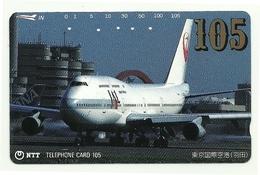 Giappone - Tessera Telefonica Da 105 Units T218 - NTT, - Avions