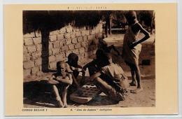 CPA Carte Ancienne 9X14 échecs Chess Jeu De Dames Non Circulé Congo - Chess
