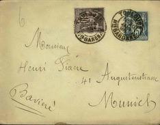 FRANCE - Entier Avec Complément D' Affr. Pour La Bavière - 1893 - 21627