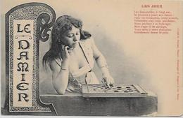 CPA Carte Ancienne 9X14 échecs Chess Jeu De Dames Non Circulé - Chess