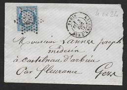 PARIS - Etoile  4  Ex  24  Et  Cachet  Paris  Rue D' Enghien - Postmark Collection (Covers)