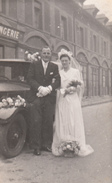 VOITURE ANCIENNE  - MARIAGE - PHOTO 8X13 Cms - Automobili