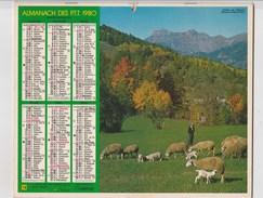 - CALENDRIER PTT Année 1980 - - Calendari