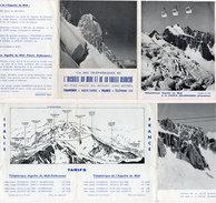Cie Des Téléphériques De L' Aiguille Du Midi Et De La Vallée Blanche  - Dépliant 4 Volets (94758) - Dépliants Touristiques